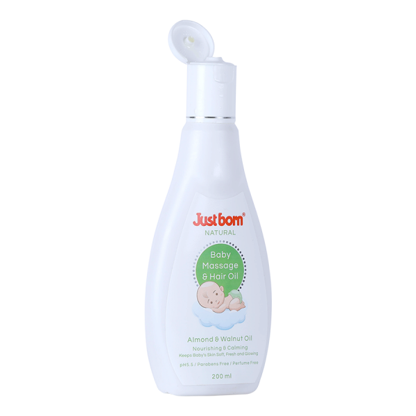 Natural Baby Massage and Hair Oil (200 ML - Almond oil, walnut oil)